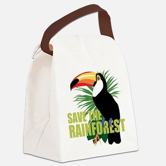 save_rainforest.png Canvas Lunch Bag