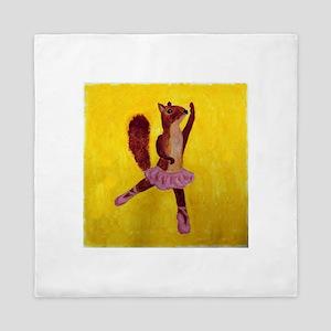 Ballet Squirrel Queen Duvet