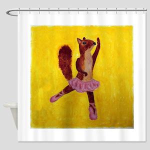 Ballet Squirrel Shower Curtain