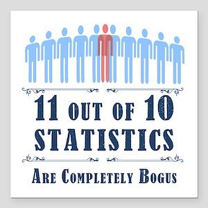 """Statistics Square Car Magnet 3"""" x 3"""""""