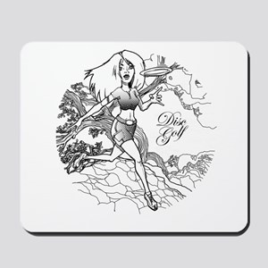 Disc Golf Girl Style Mousepad