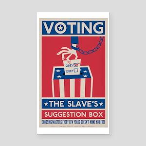 Voting Rectangle Car Magnet