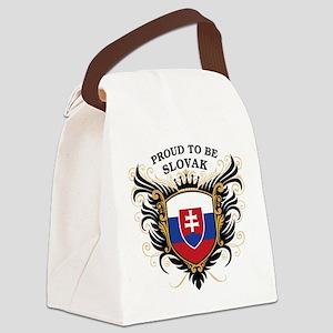 proud_slovak Canvas Lunch Bag