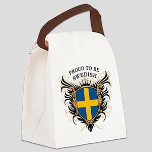 proud_swedish Canvas Lunch Bag