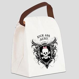 Kick Ass Aunt Canvas Lunch Bag
