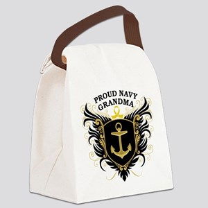 proud_navy_grandma Canvas Lunch Bag