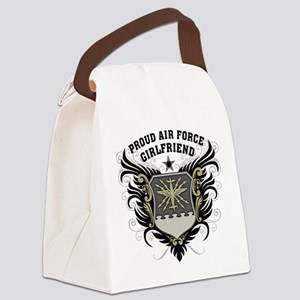 Proud Air Force Girlfriend Canvas Lunch Bag