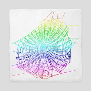 Rainbow web Queen Duvet