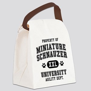 Property of Miniature Schnau Canvas Lunch Bag