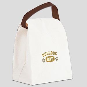 Bulldog Dad Canvas Lunch Bag