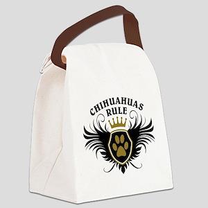 Chihuahuas Rule Canvas Lunch Bag