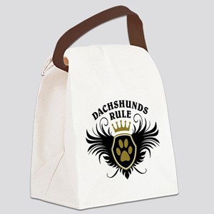 Dachshunds Rule Canvas Lunch Bag