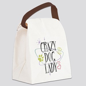 Crazy Dog Lady Canvas Lunch Bag
