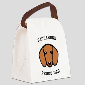 Dachshund Proud Dad Canvas Lunch Bag