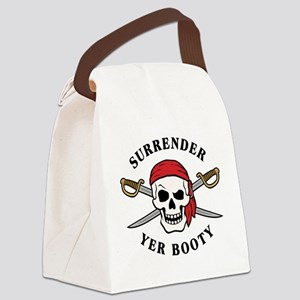 Surrender Yer Booty Canvas Lunch Bag