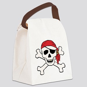 Funny Pirate Canvas Lunch Bag