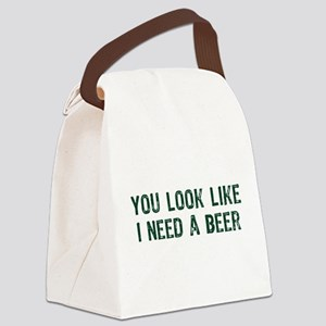I Need A Beer Canvas Lunch Bag