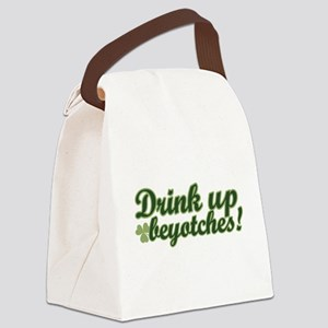 drinkup_chick Canvas Lunch Bag