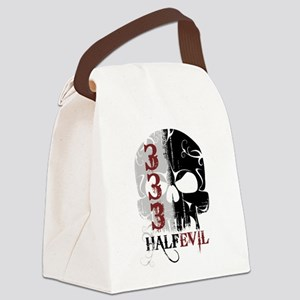 333 Half Evil Canvas Lunch Bag