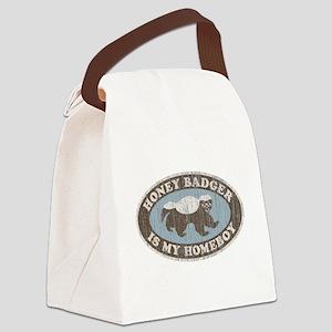 Vintage Honey Badger HB Canvas Lunch Bag