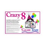 Crazy8 Game 35x21 Wall Decal