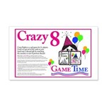Crazy8 Game 20x12 Wall Decal