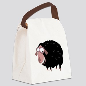 Loony Black Sheep Canvas Lunch Bag
