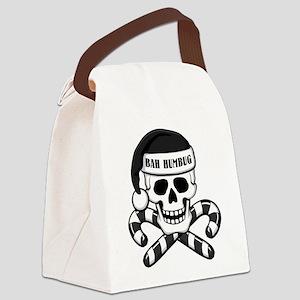 Bah Humbug Skull Canvas Lunch Bag