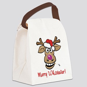 bad_rudolph_whatever Canvas Lunch Bag