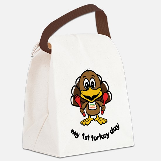 first_turkeyday.png Canvas Lunch Bag