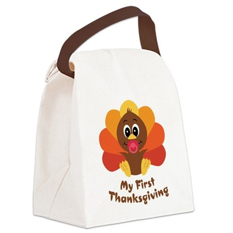 baby_turkey_1st.png Canvas Lunch Bag