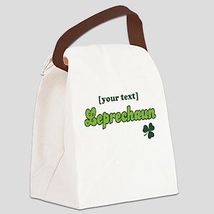 PERSONALIZE Leprechaun Canvas Lunch Bag