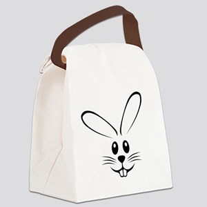 bunny_face_b Canvas Lunch Bag