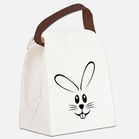 bunny_face_b.png Canvas Lunch Bag