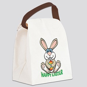 happyeaster_bunny Canvas Lunch Bag