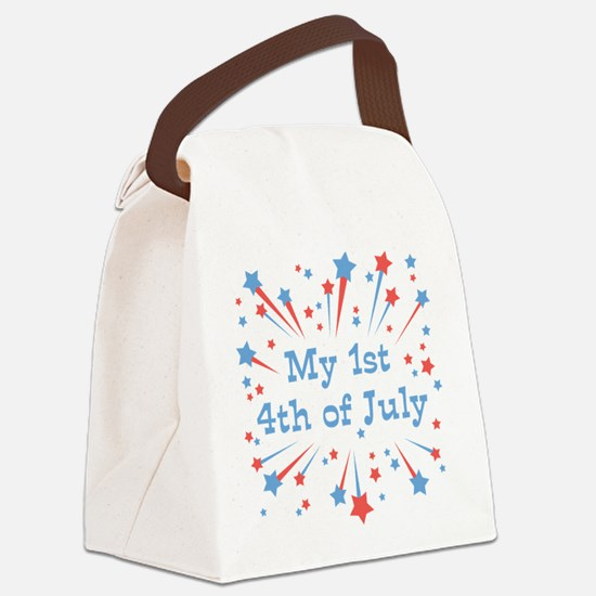 my1st_4thjuly.png Canvas Lunch Bag