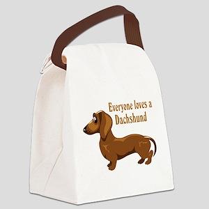 everyone_dachshund Canvas Lunch Bag