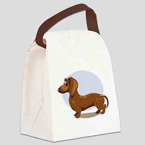 2-dachshund Canvas Lunch Bag