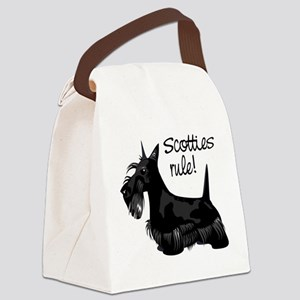 4-scotties_rule Canvas Lunch Bag