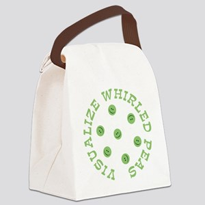 vis_whirl_peas Canvas Lunch Bag