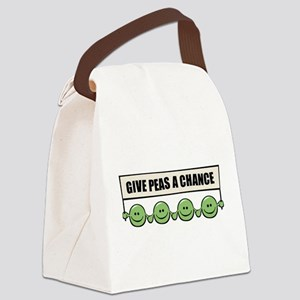 give_peas Canvas Lunch Bag
