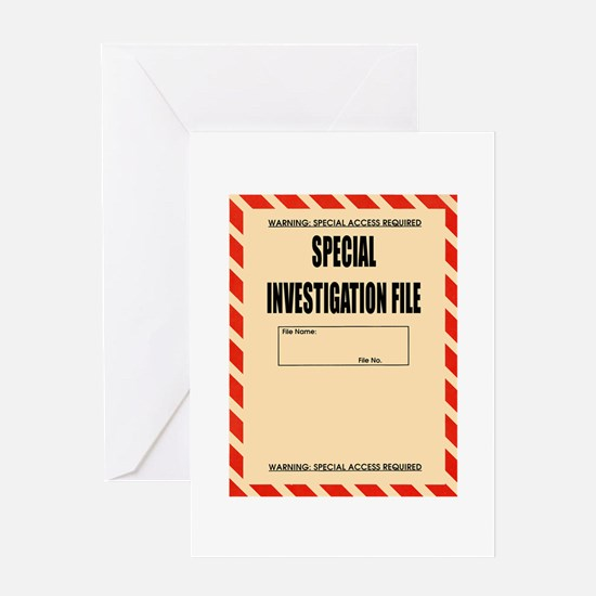 Special Investigation File Greeting Card