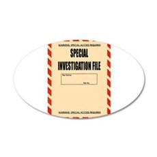Special Investigation File Wall Decal