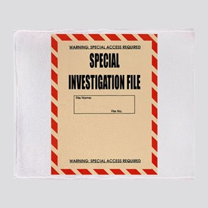 Special Investigation File Throw Blanket