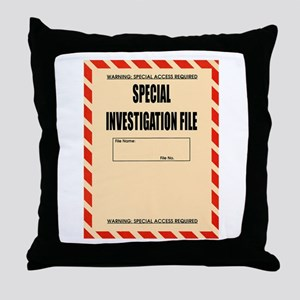 Special Investigation File Throw Pillow