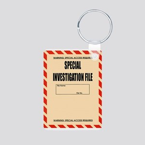 Special Investigation File Aluminum Photo Keychain