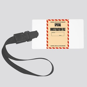 Special Investigation File Large Luggage Tag