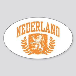 Nederland Sticker (Oval)