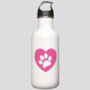 Heart Paw Print Stainless Water Bottle 1.0L