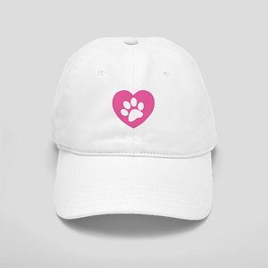 Heart Paw Print Cap